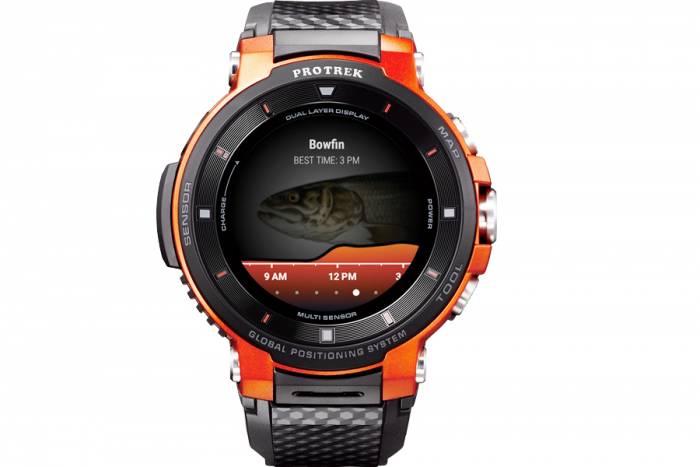 Barometer fishing smartwatch
