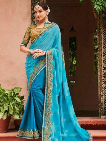 buy heavy work saree online
